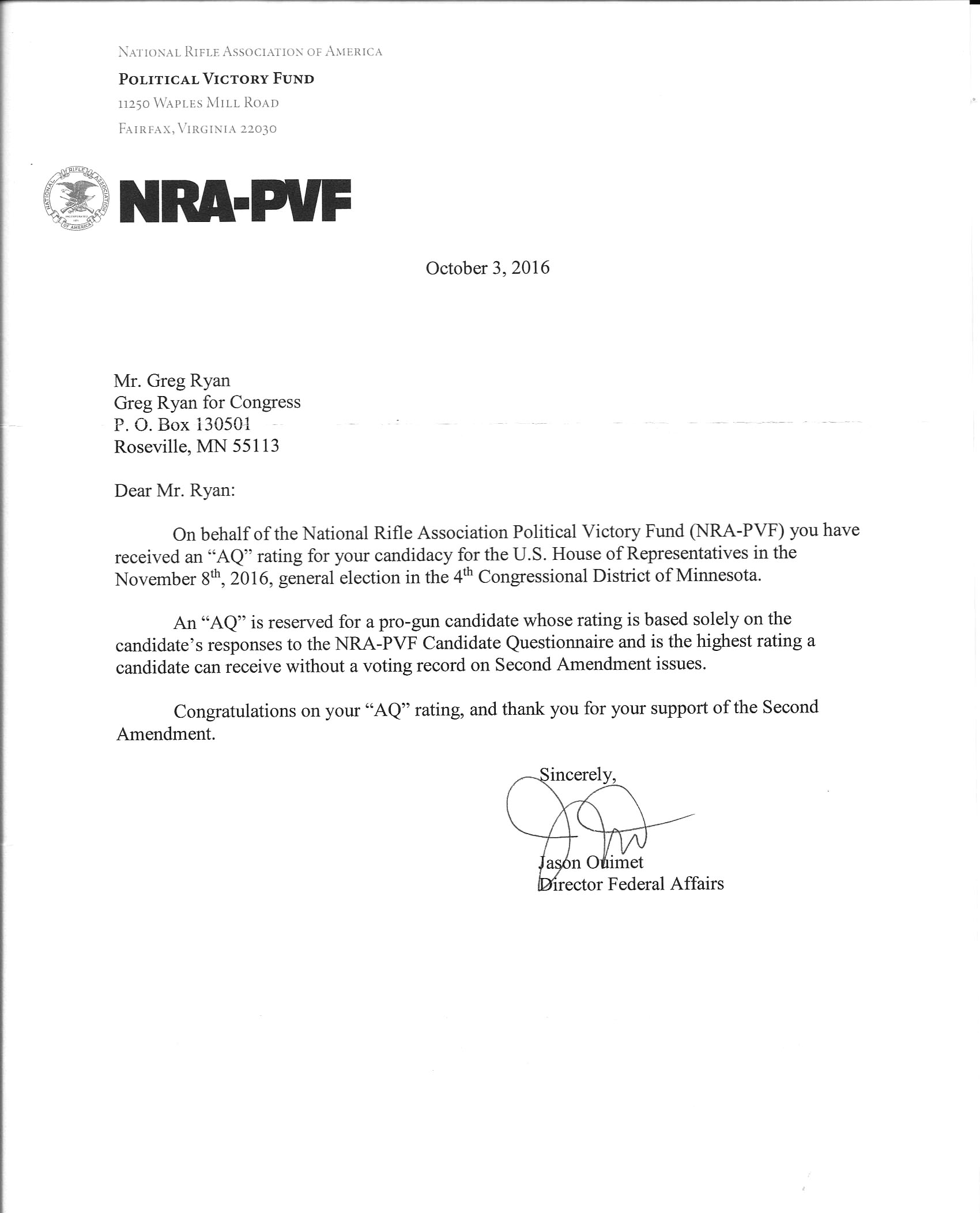 Write Letter To Paul Ryan